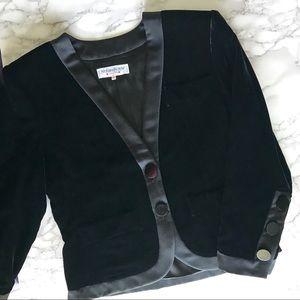 Yves Saint Laurent Jackets & Coats - Yves Saint Laurent Vintage Black Velvet Blazer